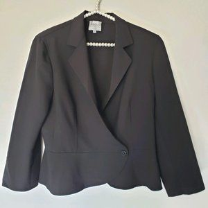 Armani Collezioni | Black Wool One Button Blazer